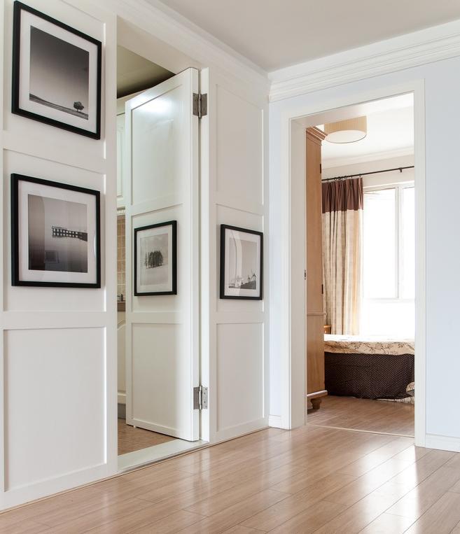 隐形门效果图,隐形门设计装修效果图,美式风格卧室门图片